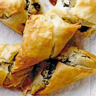Spinach, Feta And Onion Parcels.