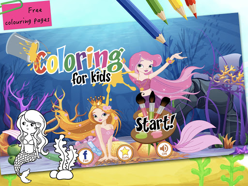 Mermaid Coloring Book for Kids Ages 4-8: 40+ Unique and Beautiful ... | 384x512