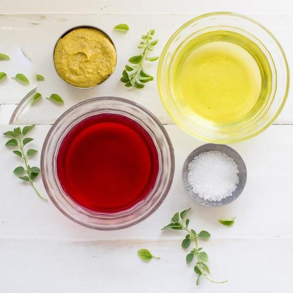 To prepare vinaigrette, combine oil, vinegar, mustard, and garlic in a jar. Cover tightly;...