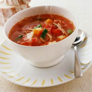 Potato Soup With Green Beans And Tomatoes.