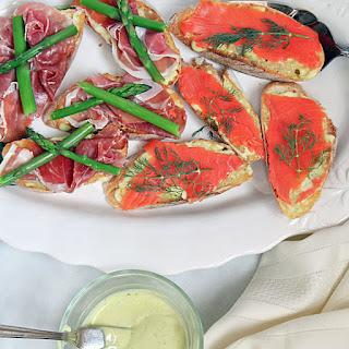Open Faced Sandwiches with Garlic Aioli.