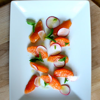 Orange Radish and Mint Salad.