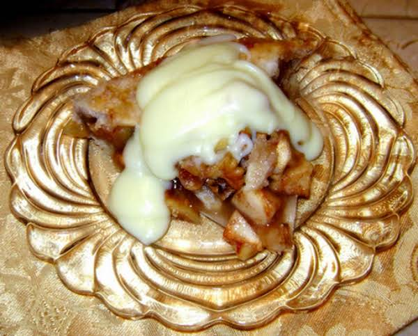 The Walnuts, Flaky Crust, And Creme Sauce Makes This Recipe Somewhat Decadent!
