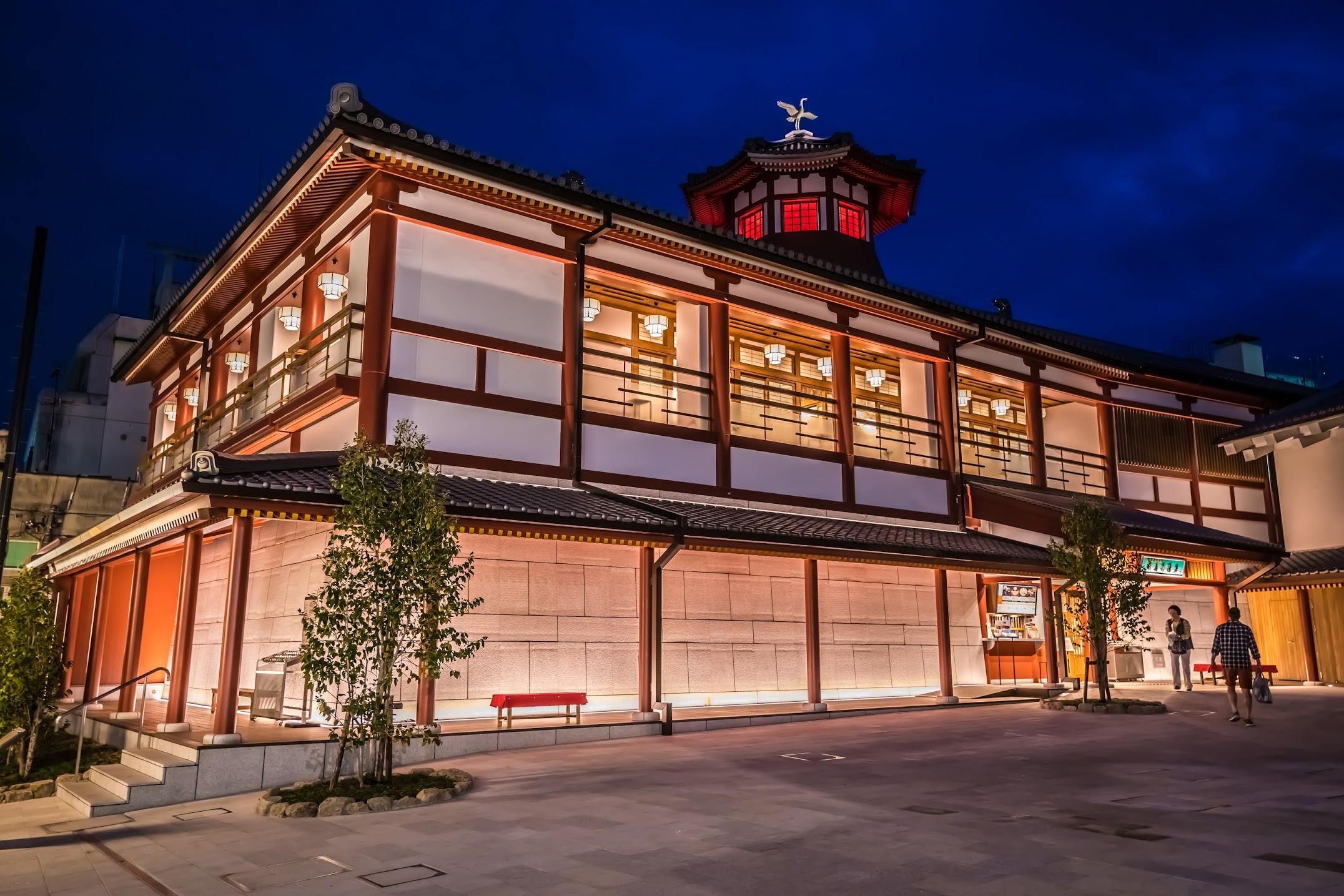 Dogo Onsen Asuka-no-yu light-up1