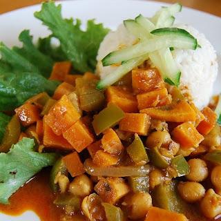 Sweet Potato & Tamarind Curry with Basmati rice