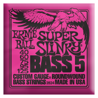 Ernie Ball - Bass 5-strängad Roundwound Nickel Super Slinky 040 - 125 EB-2824