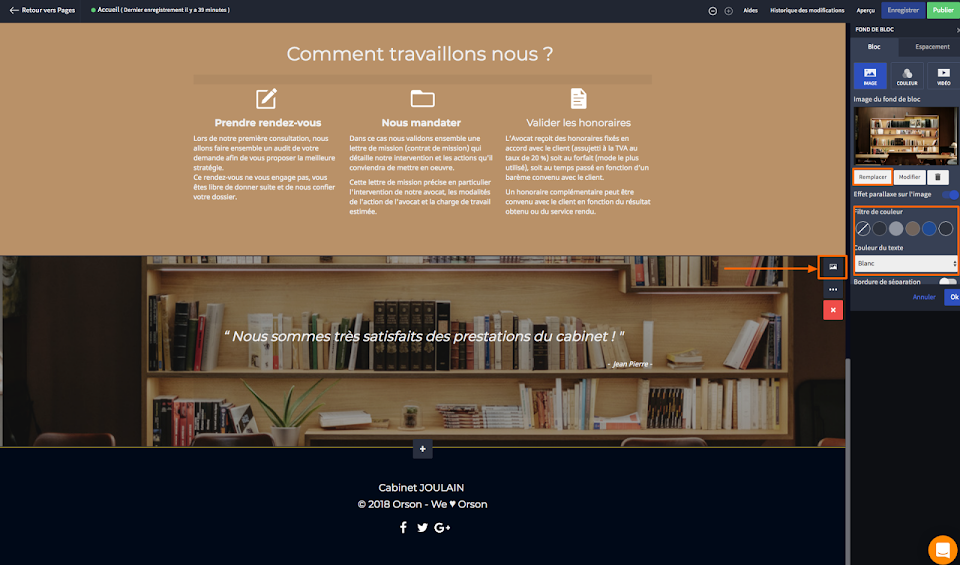 changer le design de mon site de comptable