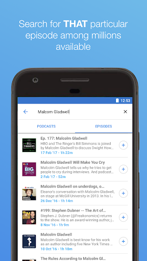 The Podcast App Screenshot