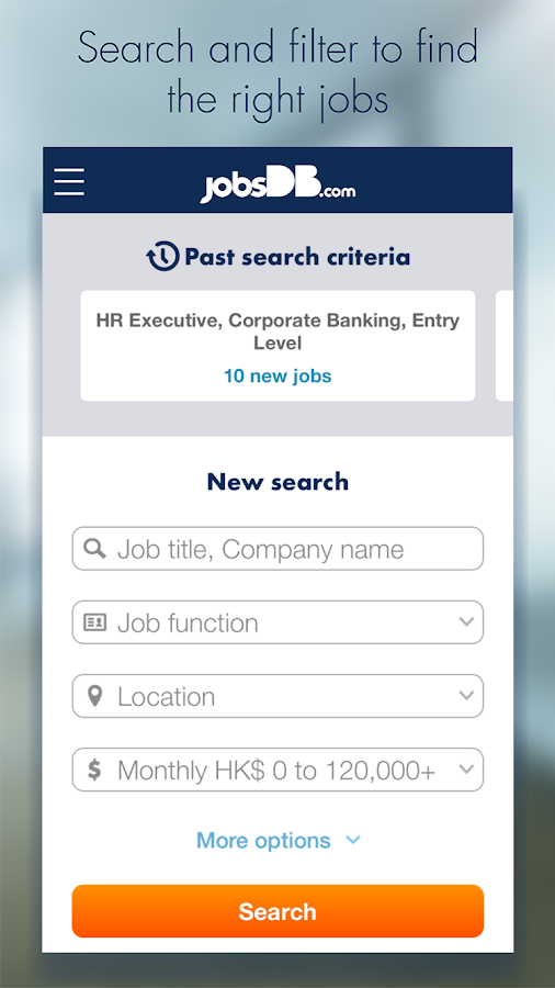 jobsDB Job Search- screenshot