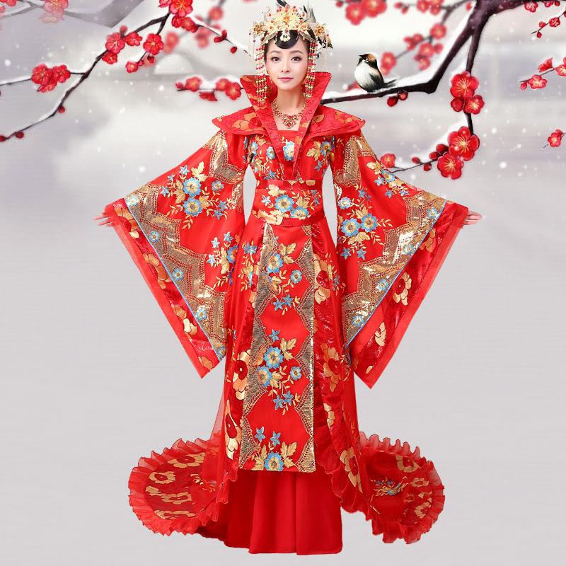 Trang phục hoàng hậu Trung Quốc với kiểu dáng đa dạng phong phú