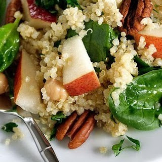 Pear, Quinoa, and Spinach Salad.