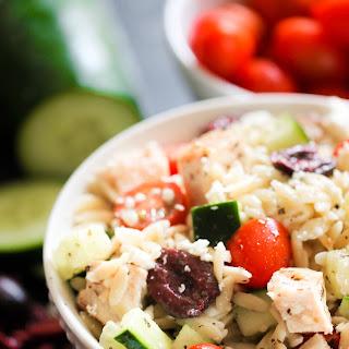 Mediterranean Chicken and Orzo Salad.