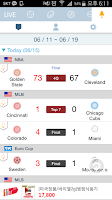 Screenshot of LIVE Score