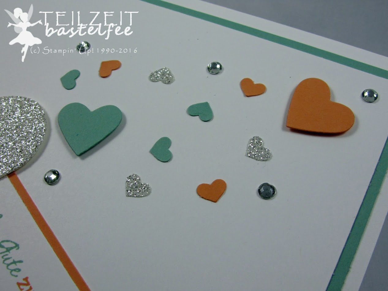Stampin' Up! – In{k}spire_me #263, Sketch Challenge, wedding, Hochzeit, Framelits Heart Collection, Herzen, Zum Schönsten Tag, Love & Laughter, Banner, Confetti Punch