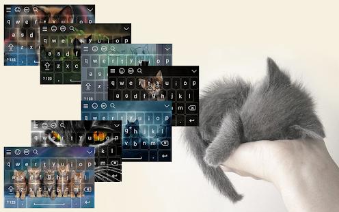 Cute Kitten Keyboard Theme Emoji - náhled