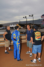 Photo: Here we find Capps talking with a videographer who was on hand to tape a NAPA Auto Parts commercial