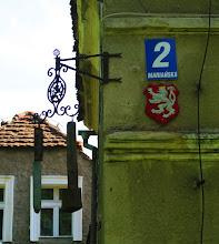 Photo: Przy ulicy Mariańskiej szlak żółty skręca w prawo