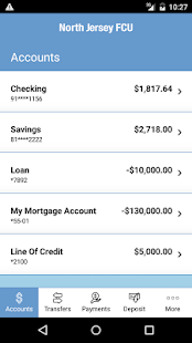 North Jersey FCU Mobile App- screenshot thumbnail