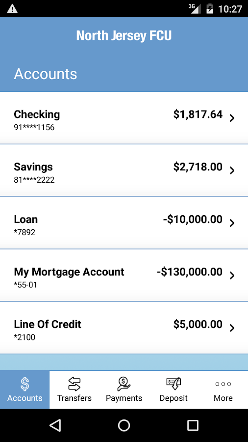 North Jersey FCU Mobile App- screenshot