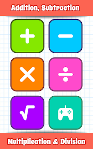 Math Games, Learn Add, Subtract, Multiply & Divide 10