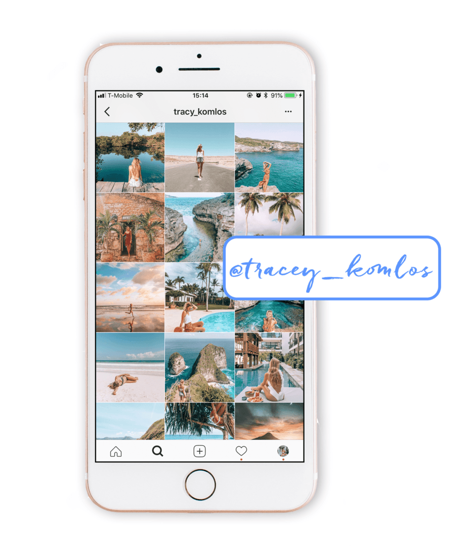 bright, beachy, and relaxed instagram theme