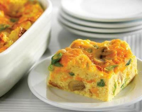 Cheddar And Mushroom Breakfast Squares Recipe