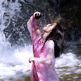 costume  by Lai Jung - People Portraits of Women ( wine, waterfall, costume )