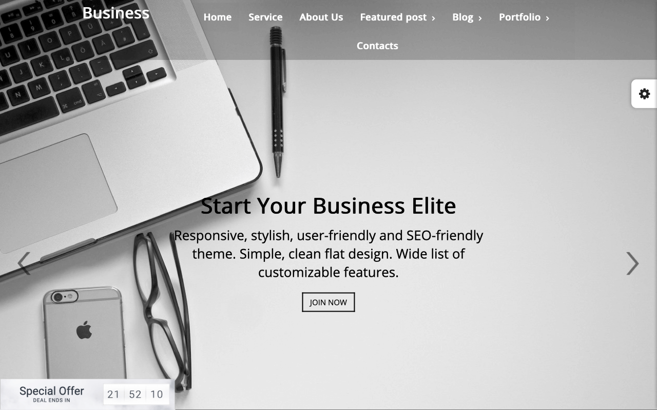 Business Elite Landing Page Template