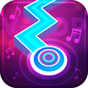 Colorful Dance Line Music - Zigzag Tap Dancing icon