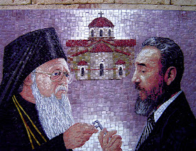 Photo: fidel and church leader. Tracey Eaton photo