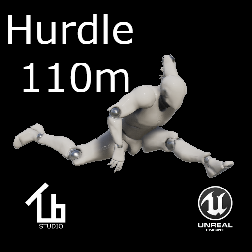 Athletics hurdle 110m