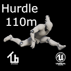 Athletics hurdle 110m icon