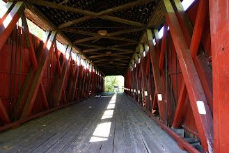 Photo: Inside the Stonelick Covered Bridge