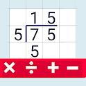 Division calculator icon