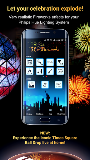 Screenshot for Hue Fireworks for Philips Hue in Hong Kong Play Store