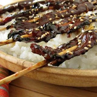 Thinly Sliced Beef Yakitori.