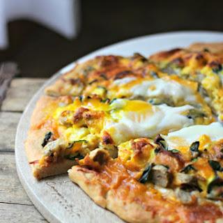 Breakfast Pizza on Greek Yogurt Crust.