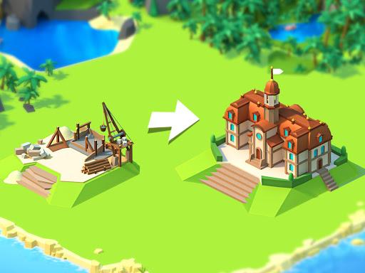 Sea Port: Cargo Ship & Town Build Tycoon Strategy apktreat screenshots 2