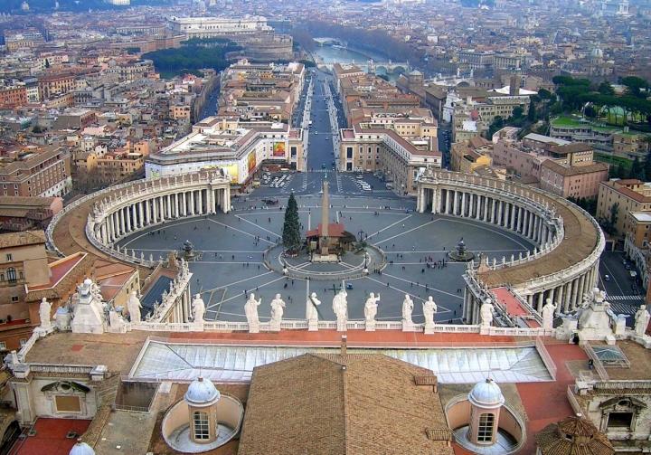 Piazza Vaticano dal cupolone di penelope