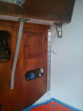 Photo: new trim and aluminum angle installed on port salon