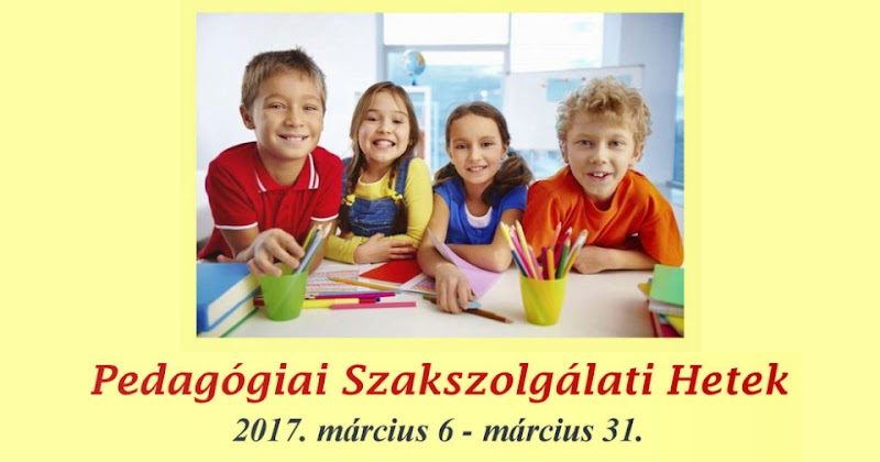 Pedagógiai Szakszolgálati Hetek 2017