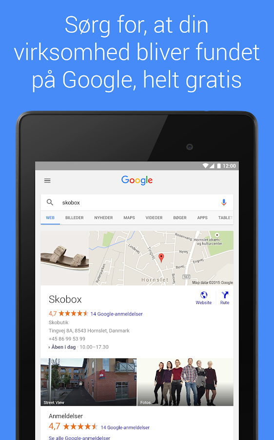Google My Business – screenshot