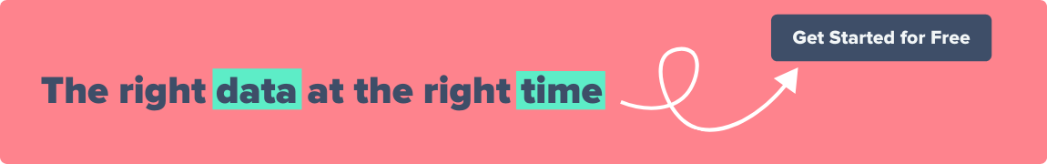 The right data at the right time. Get started for free.