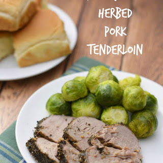 Slow Cooker Herbed Pork Tenderloin.