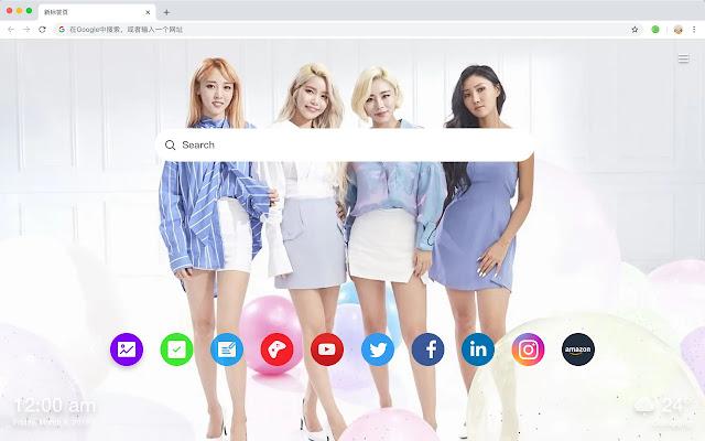 Mamamoo New Tab Page HD Star Pop Theme