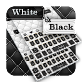Black white leather keyboard