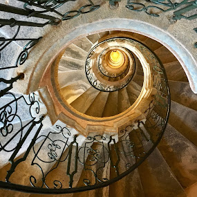Staircase, Melk Abbey by Timothy Carney - Buildings & Architecture Architectural Detail ( spiral stairs, abbey, melk abbey, melk, baroque, spiral staircase, stairway, austria )