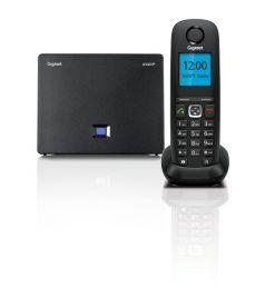Gigaset - DECT/GAP bezdrátový IP telefon, barva černá