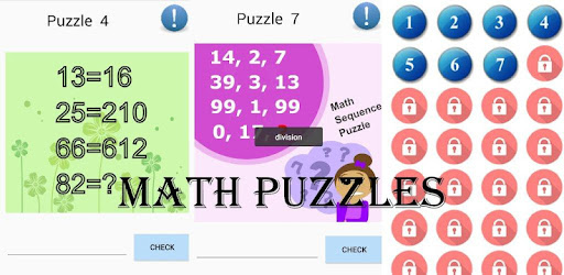 Math Puzzles PRO 2018 game for Android screenshot