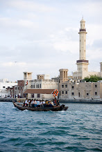 Photo: By the Dubai creek. I also dared once to take one of these water taxis, abras, to cross the creek.